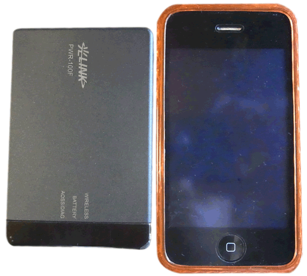 iPhoneと光ポータブル