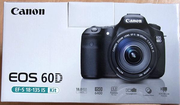 Canon EOS 60Dの箱側面