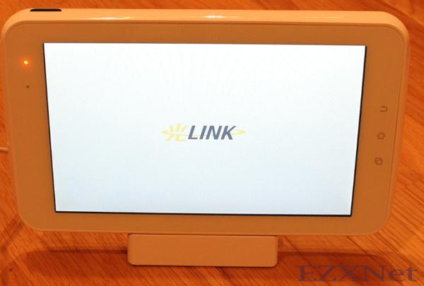 電源を入れると光LINKと表示されます。