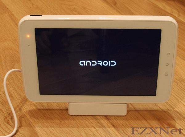 androidのロゴが表示されます。