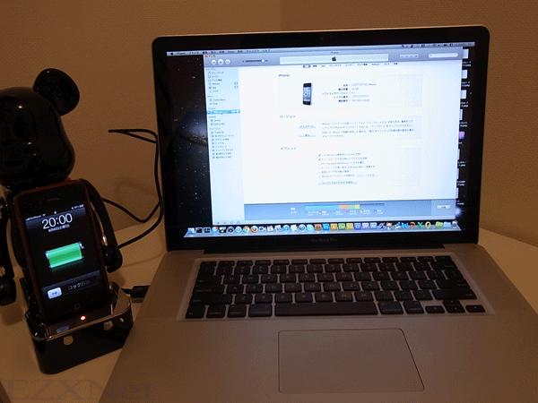Macと接続をしても充電できます。