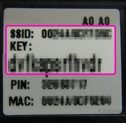 SSIDと暗号化キーのアップ画像です。