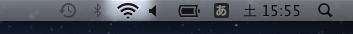 接続に成功するとアイコンが黒くなります。