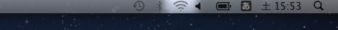 デスクトップ画面の右上に表示されているWi-Fiのアイコンをクリックします。