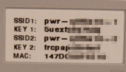 「SSID1」と「KEY1」、「SSID2」と「KEY2」、「MACアドレス」のアップ画像