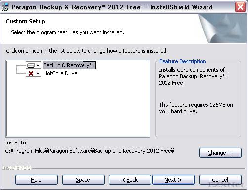 認証が通るとセットアップ画面になります。インストール先を選択する事ができますが、そのままNextを押して次に進みます。