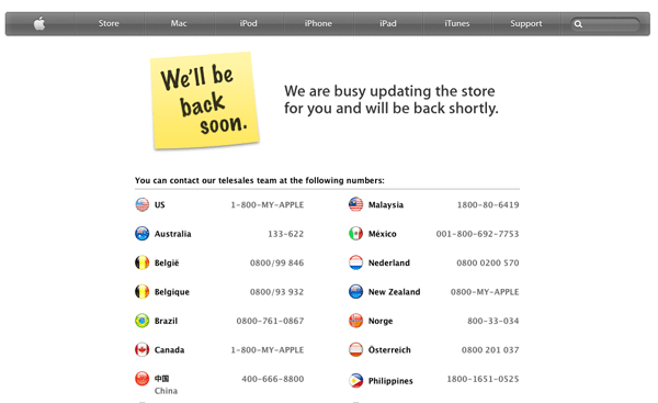 "The-Apple-Store ""I'll be back soon"""