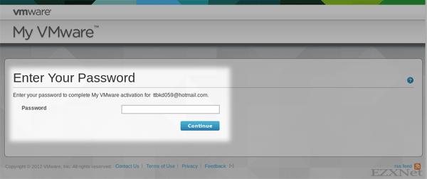 アカウントのパスワードを作成