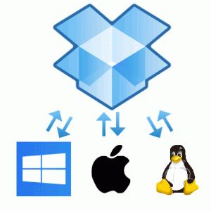 DropboxはWindows、Mac、Linuxに対応します。