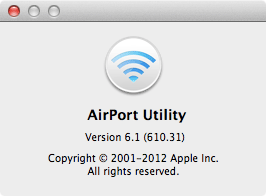 Appearance AirPort Utility version on your screen.