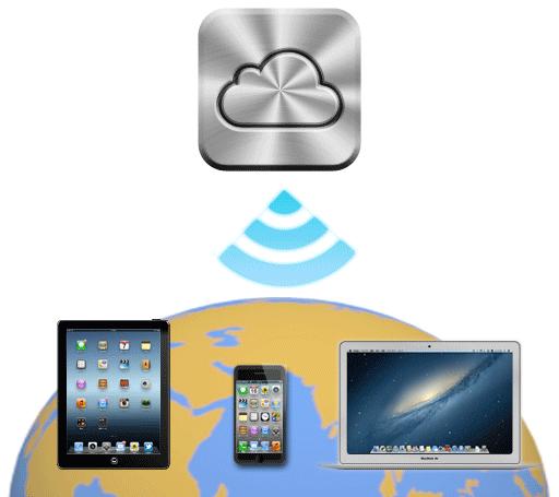 iCloudでデバイスの位置を特定