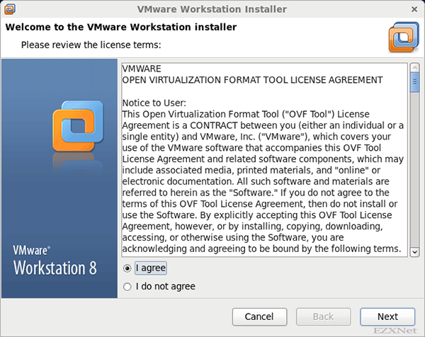 Welcome to the VMware Workstation installer
