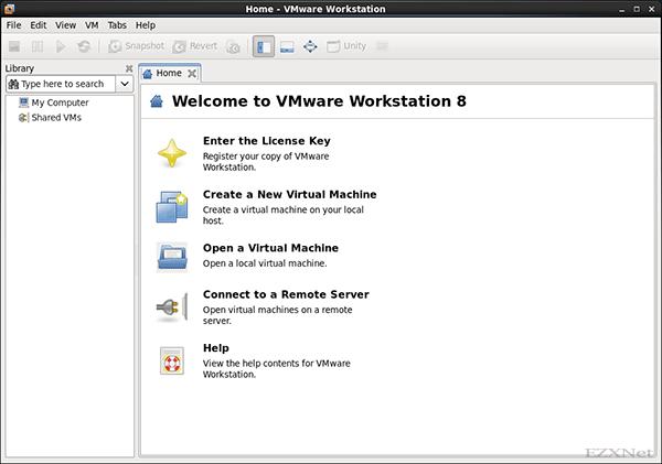 VMware WorkStaionの起動したときの状態
