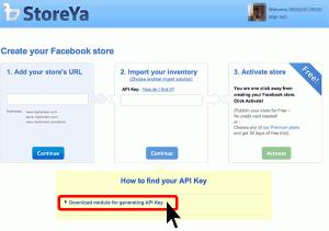 """Download module for generating API Key""をクリックしてAPI Keyを発行するのに必要なファイルをダウンロードしておきます。"