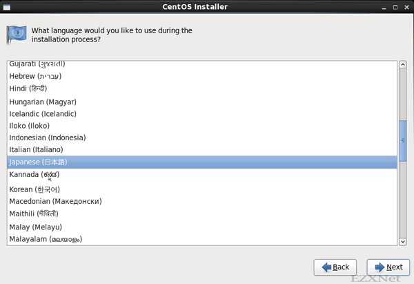 What language would you like to use during the installation process?
