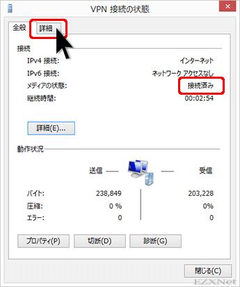 VPN接続の状態
