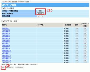 PR-400MIのVPNサーバ設定 L2TP-IPsec4