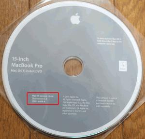 Mac OSX 10.6 Snow Leopard インストールディスク