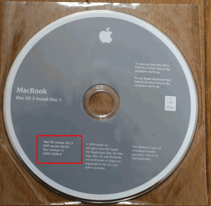 Mac OSX 10.5 Leopard インストールディスク