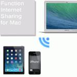 Macのインターネット共有という機能を設定します