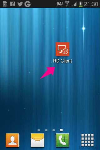 Microsoft Remote Desktopのアプリを起動します