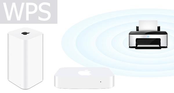 AirMacベースステーションをWPS機能で無線LAN機器を接続する