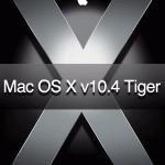 MacOS X Tiger 10.4のクリーンインストールと初期設定