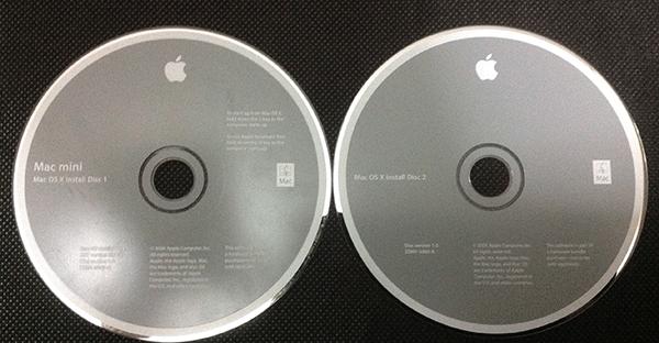 Macを購入したときに付属していたOS X10.4の再インストール用のディスク