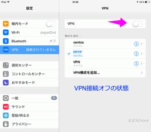 VPNのスイッチ