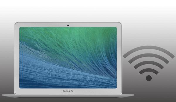 Macを無線LANアクセスポイントに接続をしてWi-Fi設定を行う手順です