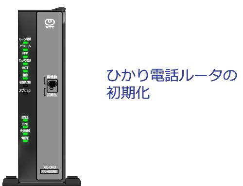 PR-400NE初期化方法