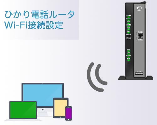 フレッツ光ネクストギガビット対応ひかり電話ルータPR-500KIのWi-Fi設定方法です