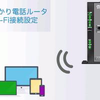 フレッツ光ネクストギガビット対応ひかり電話ルータRT-500KIのWi-Fi設定方法です