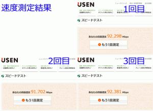 IPv4 ISP経由での速度