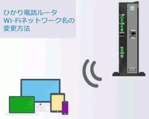 RT-500KI Wi-Fiネットワーク設定変更方法