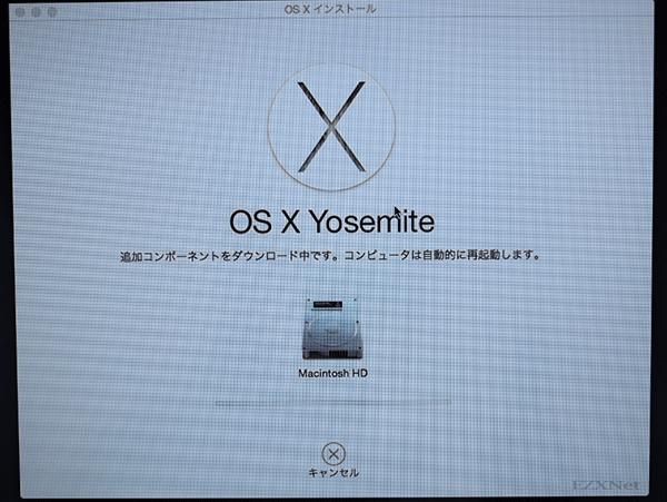 OS X Yosemiteのダウンロードが開始されます。